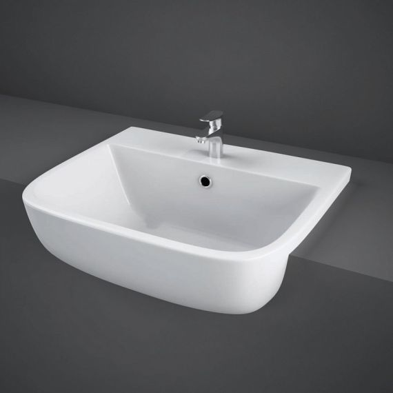 RAK Series 600 Semi Recessed Basin 520 1 Tap Hole S60052SR1