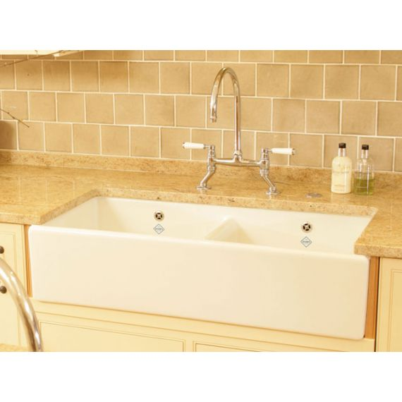 Shaws of Darwen Classic Shaker 800 Double Belfast Sink SCSH800WH
