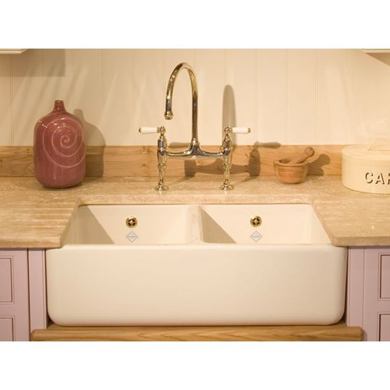 Shaws of Darwen Classic Double 1000 Belfast Kitchen Sink SCLD101WH
