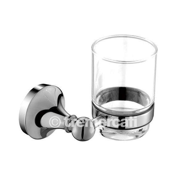Tre Mercati Imperial Glass Holder Chrome 3702