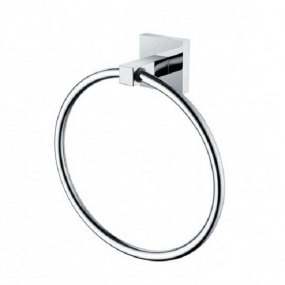 Bristan Square Towel Ring Chrome SQRINGC