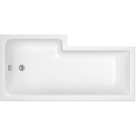 1700mm Right Hand Square Shower Bath