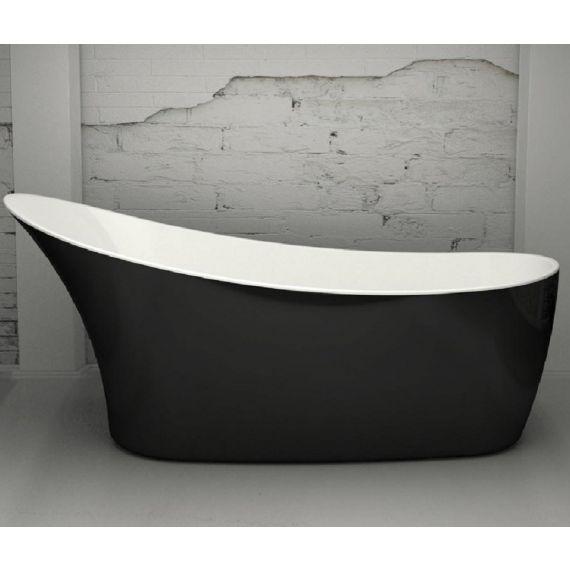 Portobello Gloss Black 1600mm Freestanding Bath