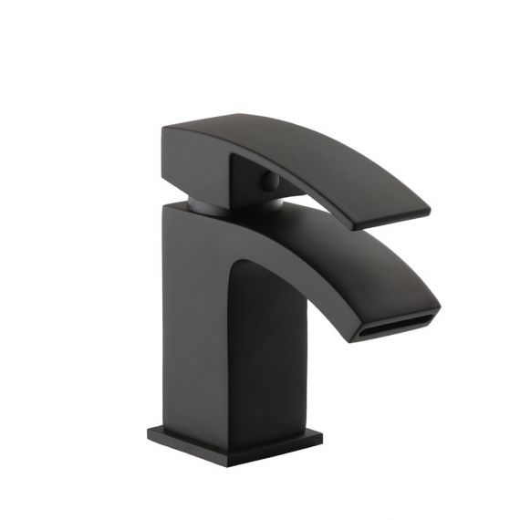 Fiuto Nero Black Tap Mono Basin Mixer (T8322NW) Full Black