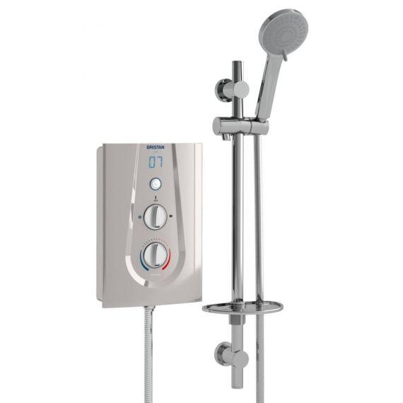 Bristan Joy 9.5kW Electric Shower Metallic Silver JOYT395 MS