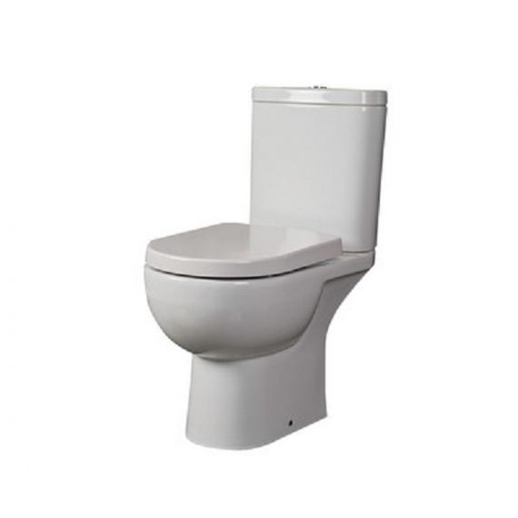 RAK-Tonique Close Coupled Open Back WC Pan, Cistern and Soft Close Seat