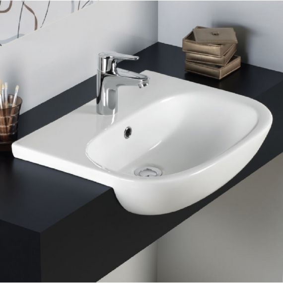RAK Tonique 52cm Semi Recessed Basin