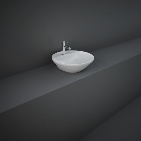 RAK-Variant Round Counter Top Wash Basin 42cm 1TH with Tap Ledge
