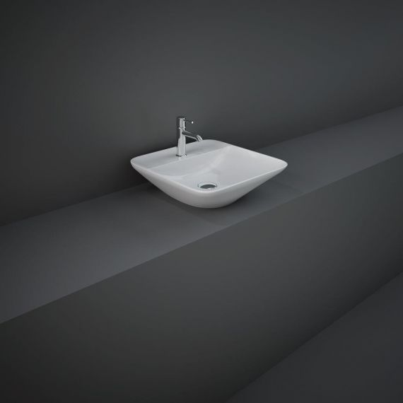 RAK-Variant Square Counter Top Wash Basin 42cm 1TH  with Tap Ledge