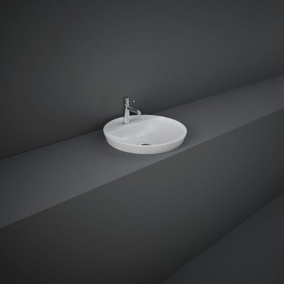 RAK-Variant Round Drop-In Wash Basin 42cm 1TH with Tap Ledge