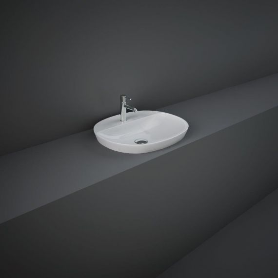RAK-Variant Oval Drop-In Wash Basin 50cm 1TH with Tap Ledge