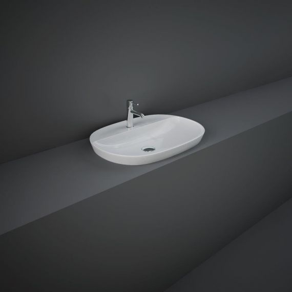 RAK-Variant Elongated Oval Drop-In Wash Basin 60cm 1TH with Tap Ledge