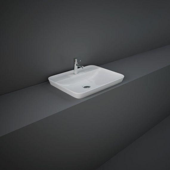 RAK-Variant Rectangular Drop-In Wash Basin 55cm 1TH with Tap Ledge
