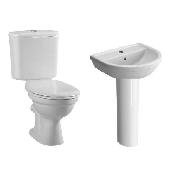 Vitra Milton 4 Piece Bathroom Suite 55cm 1TH Close Coupled