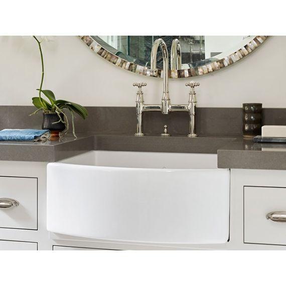 Shaws of Darwen Waterling White Bathroom Sink SBWT400WH