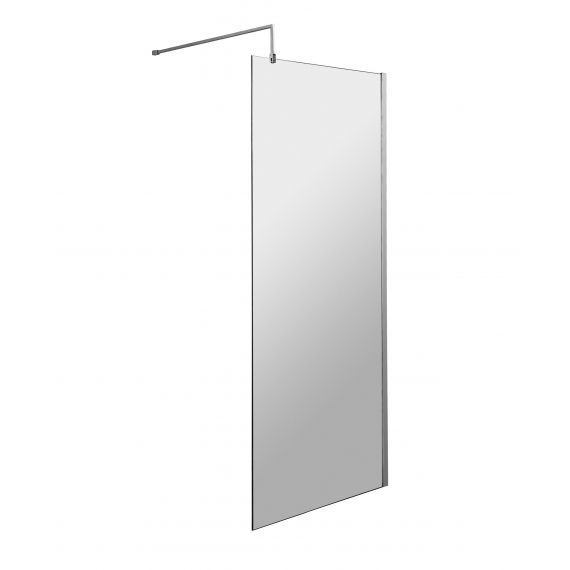 800mm Wetroom Screen & Support Bar