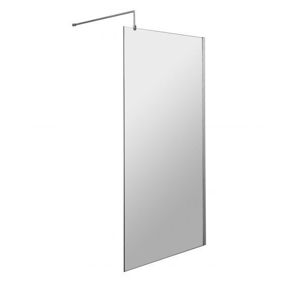 900mm Wetroom Screen & Support Bar