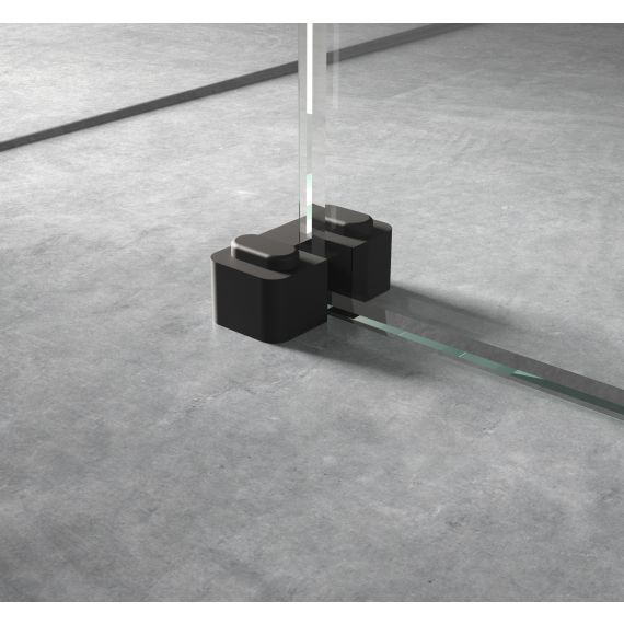 Black Wetroom Screen Support Foot