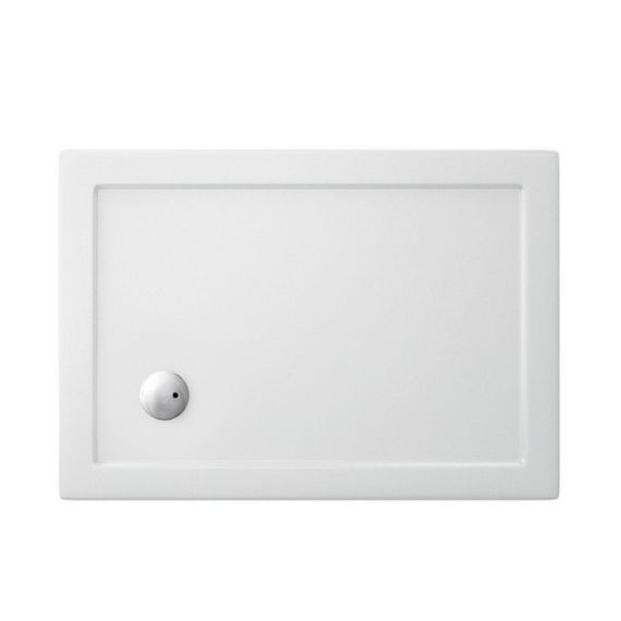 Zamori Rectangle White Shower Tray 900 X 800