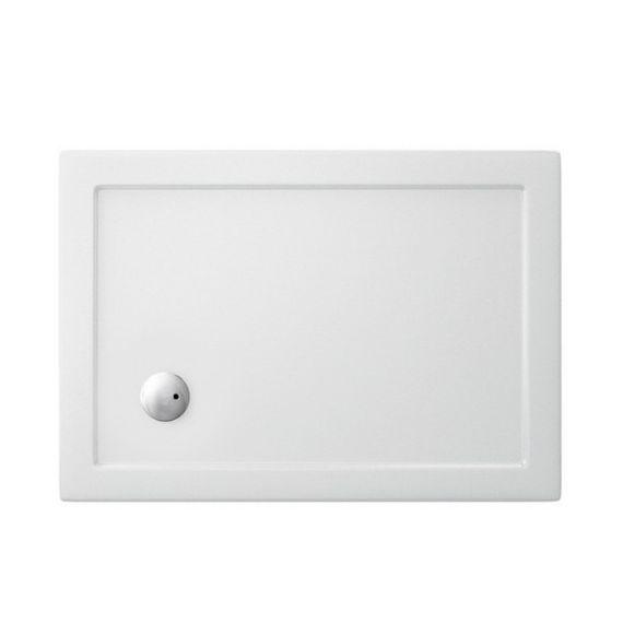 Zamori Rectangle White Antislip Shower Tray 900 X 800